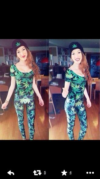 top marajuana pants marajuana leggings marajuana t-shirr shirt pants leggings