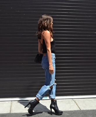 shoes jeans levis tumblr girl ripped blouse high heels