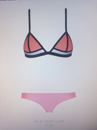 swimwear pink orange bikini love beautiful summer style beach sun