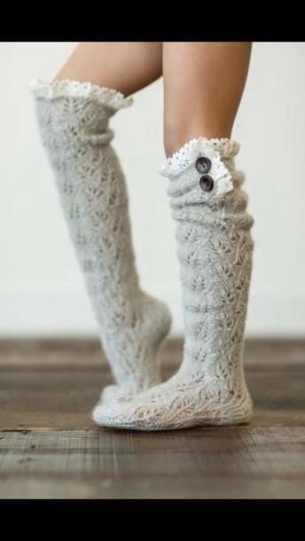 socks white cute bows