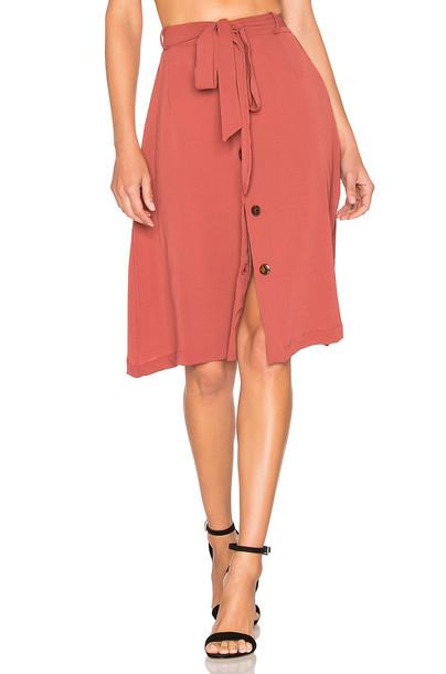 ELLEJAY Alyssa Skirt in rose