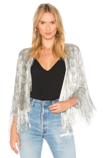 Rachel Zoe jacket metallic silver