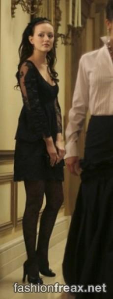 Blair Waldorf Leighton Meester Gossip Girl Black Dress Dress