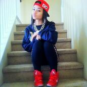 shoes,india westbrooks,gold,lebrons,red,snapback,last kings,sweater,black,tights,hat