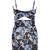 Multicolor Spaghetti Strap Cut Out Floral Bodycon Dress - Choies.com