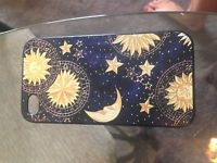 hard iphone 4 case sun, moon and stars