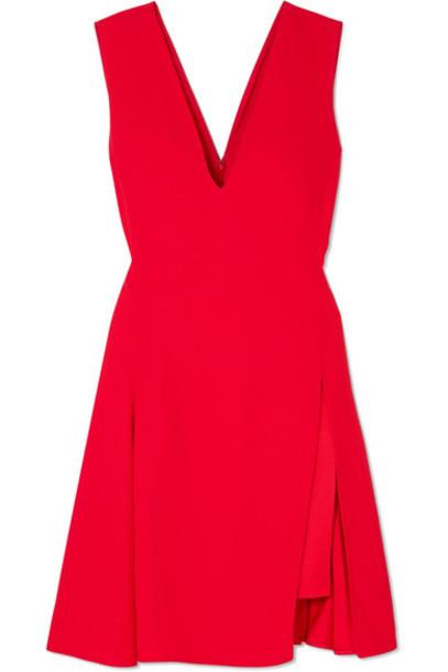 VERSACE dress mini dress mini pleated satin red