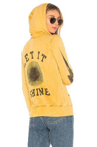 hoodie mustard sweater