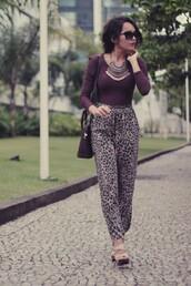 leopard print,pants
