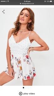 jumpsuit,floral