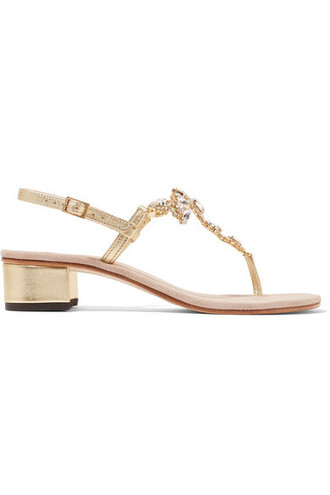 metallic embellished sandals leather sandals gold leather shoes