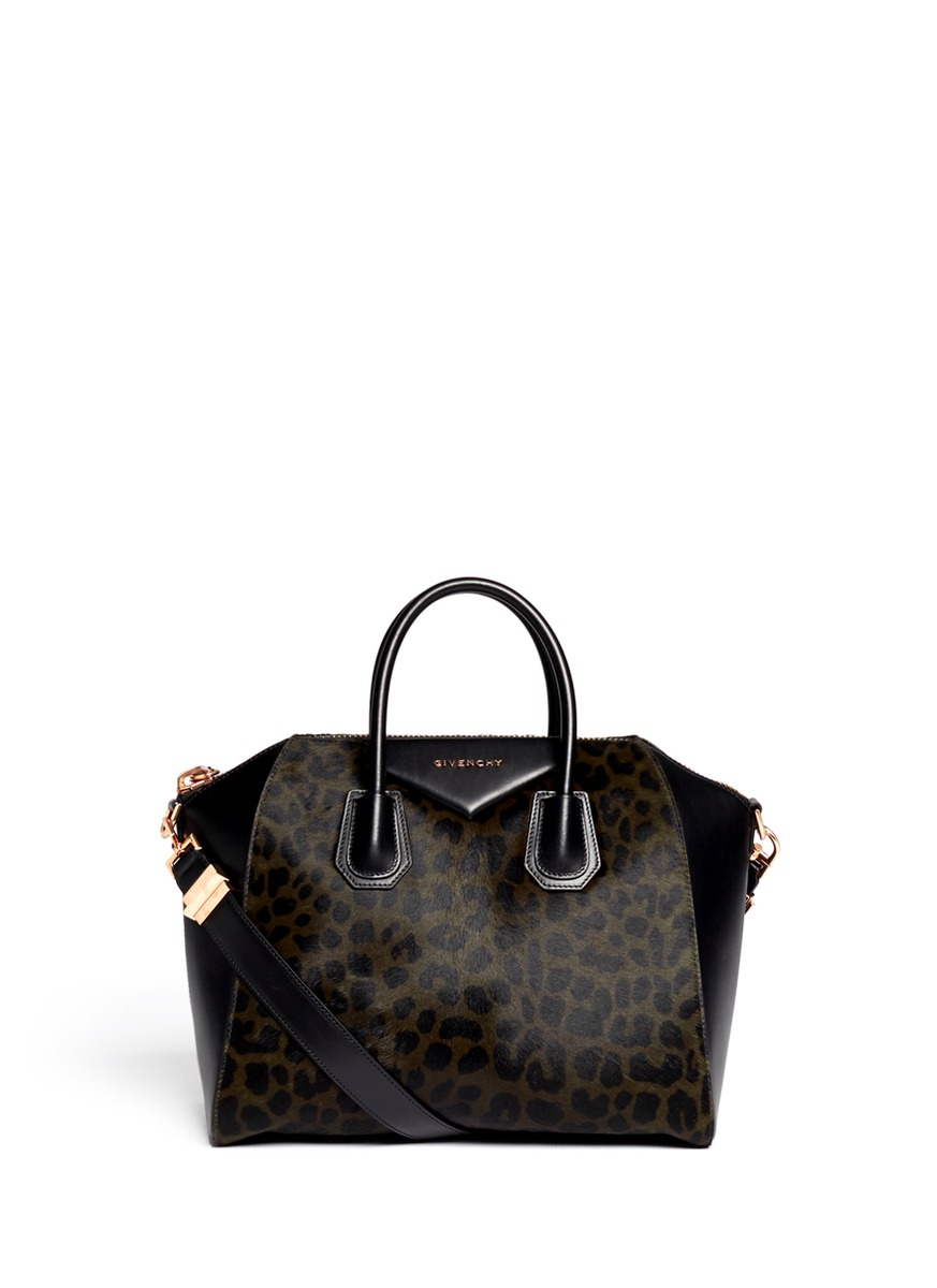 ebd5f6395c GIVENCHY - Antigona calf-hair leopard print medium leather satchel ...