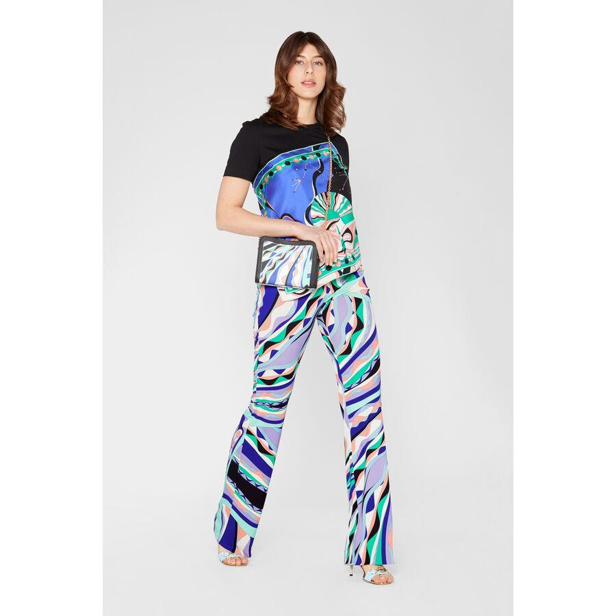 Burle Print Flared Trousers