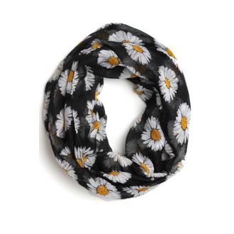 scarf floral infinity scarf daisy