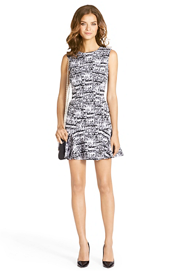 Jaelyn Sleeveless Flared Printed Dress | Dresses by DVF
