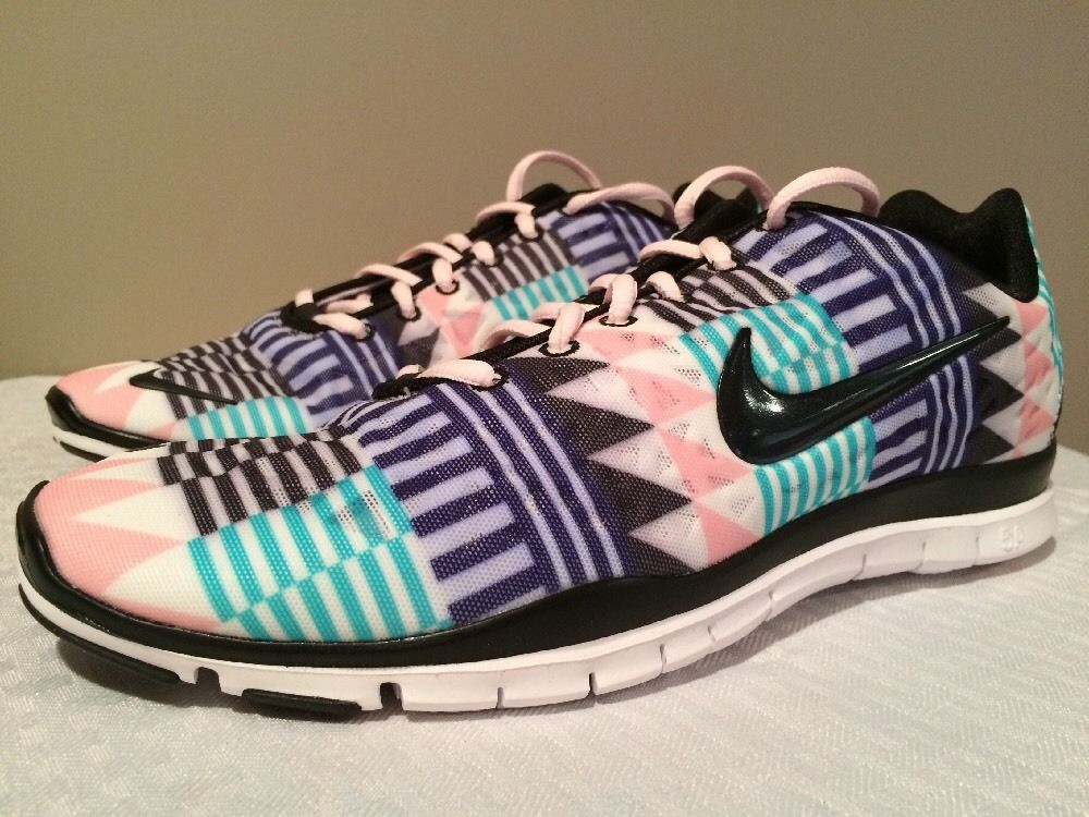 nike free tr fit 3 print teal aztec tribal chevron