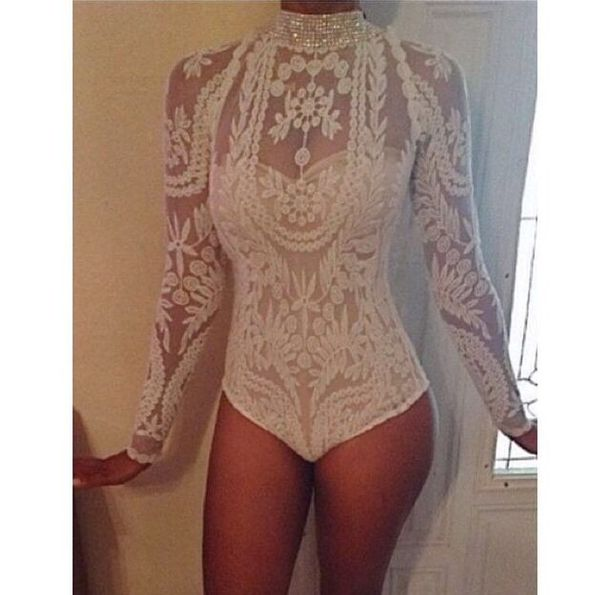 jumpsuit diamonds bodysuit lace dress