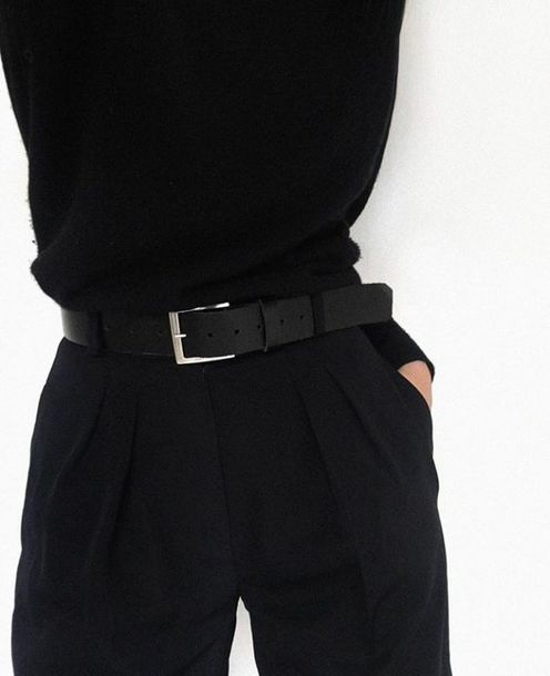 Pants Aesthetic Alternative Tumblr Black Belt High