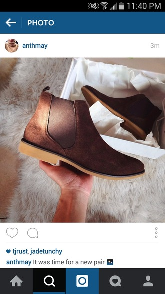 shoes brown booties boots