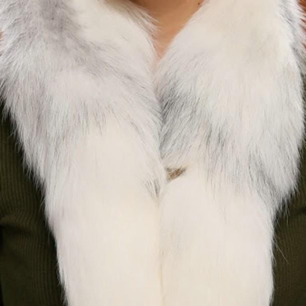 scarf fur white