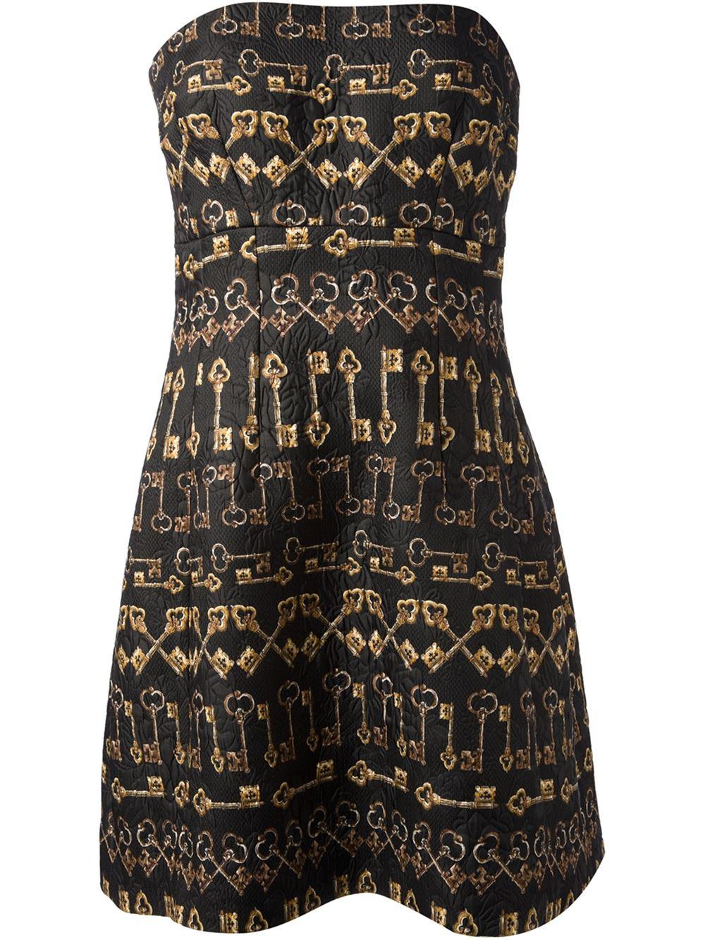Dolce & gabbana strapless quilted dress