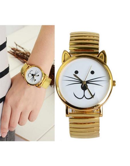 cats jewels kitty gold kitty watch watch wow