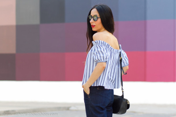 with or without shoes blogger blouse bag sunglasses