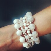 jewels,bracelets,pearl,agate jewelry,white,hand made