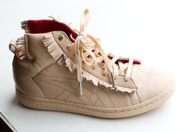 shoes onitsuka tiger beige beige shoes