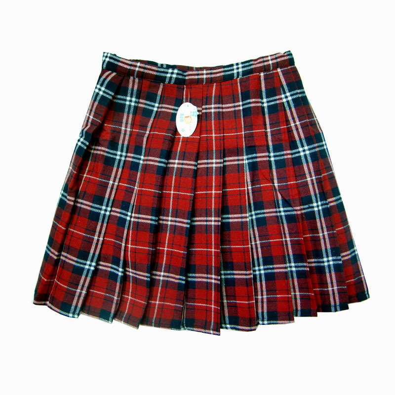 School uniform british style preppystyle school uniform pleated skirt red plaid 1-inSkirts from Apparel & Accessories on Aliexpress.com