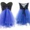 Lace purple strapless bridesmaid dress - angelpromdress.co.uk