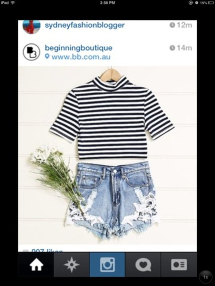 stripes shirt crop tops