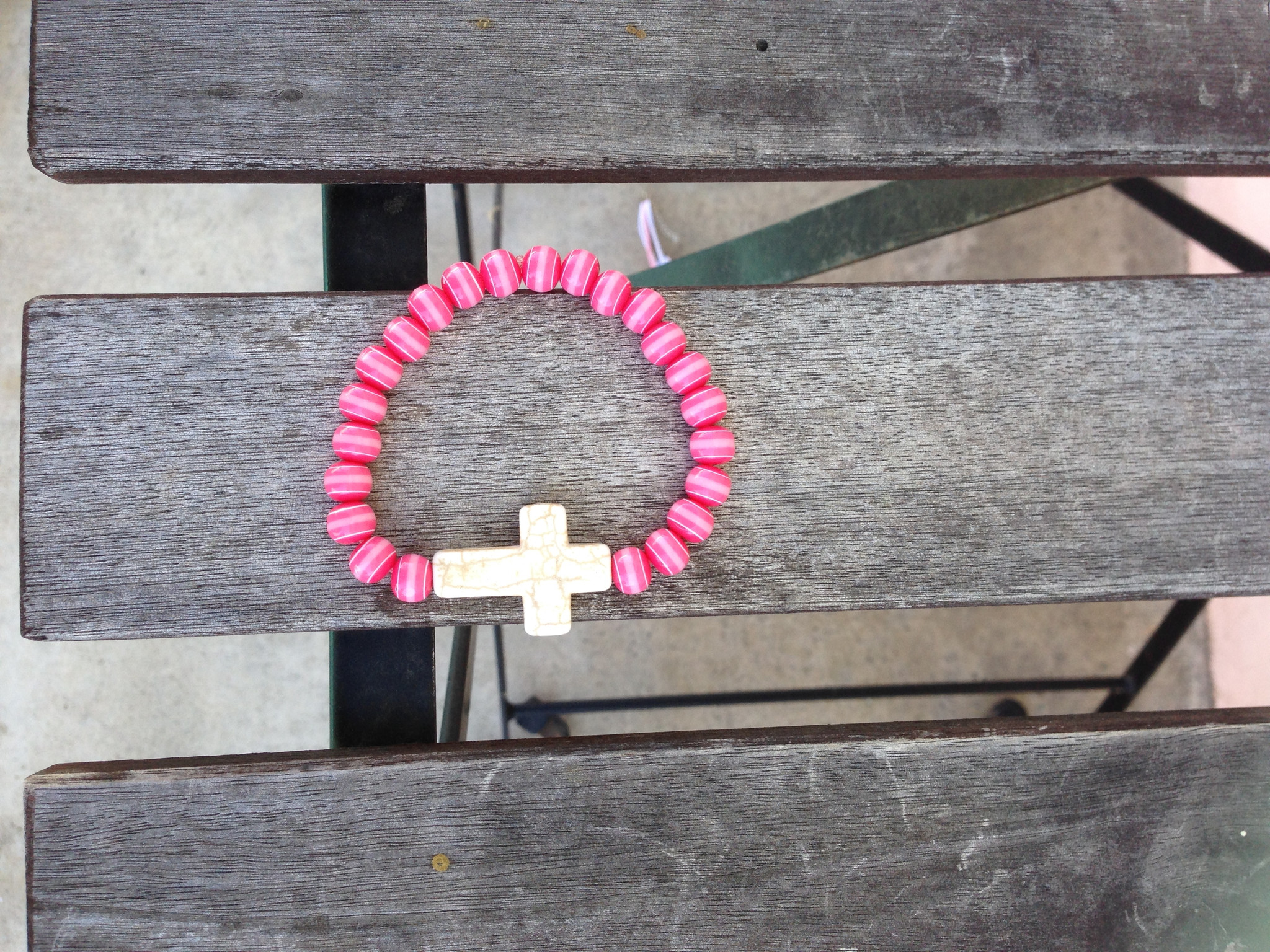 Pink Against Cancer Cross Bracelet – Gold Soul