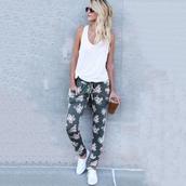 pants,harem pants,casual,joggers,dance,sweatpants,floral,hip-hop jeans
