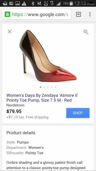 shoes heels red black women daya women ombre high heel pumps
