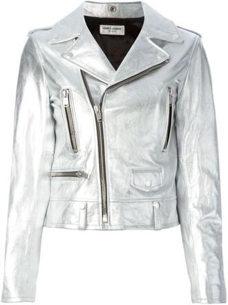 jacket biker jacket women classic cotton grey