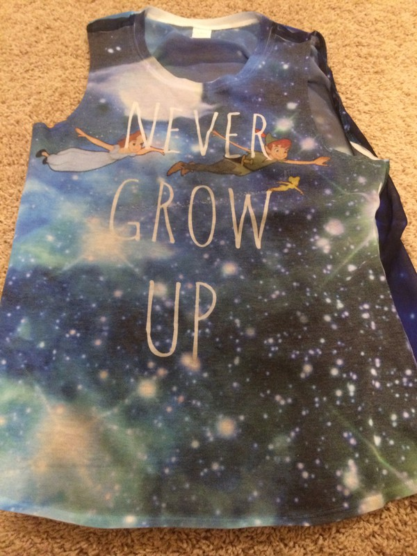 disney tank top galaxy shirt peter pan