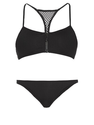 bikini back black swimwear