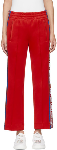 Marc Jacobs pants track pants red