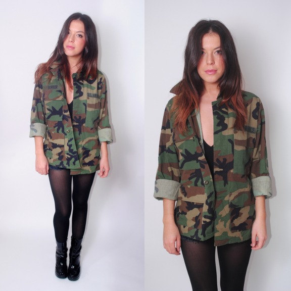 Vintage 1980s 90s authentic military air force patches army camo camouflage jacket marines coat all sizes