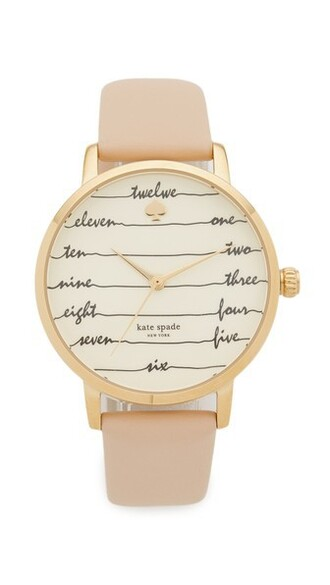 tan watch gold jewels