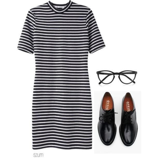 dress stripes striped dress oxfords short dress