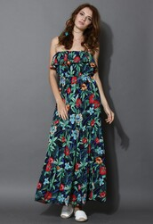 chicwish,tropical,floral,maxi dress,floral maxi dress