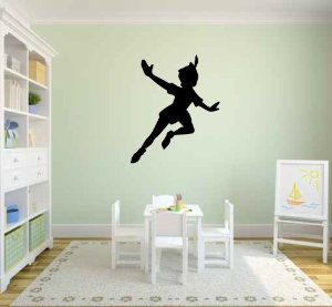 Peter pan silhouette vinyl wall decal sticker graphic by lks trading post
