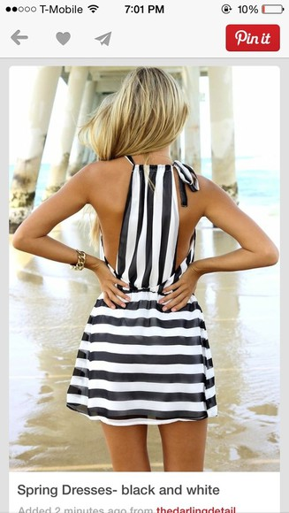 black and white dress summer dress stipes dress black white dress striped dress white dress stripes black dresses
