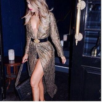 dress wrap dress gold new year's eve maxi dress