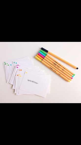 dress back to school pens pencils