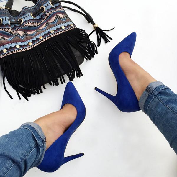 Shoes: cicihot, pointy pumps, classy pumps, classic pumps, blue ...