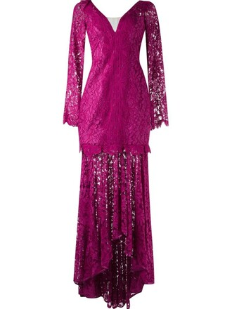 dress maxi dress maxi lace purple pink