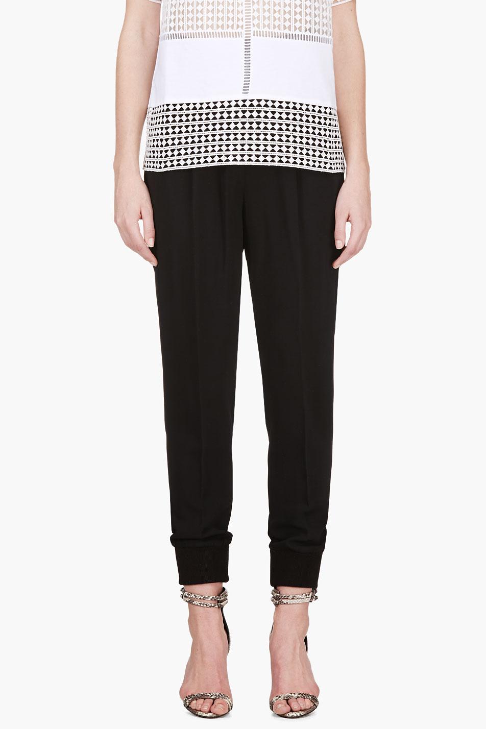 Giambattista valli black pleated harem trousers